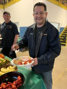 employees eat green eggs and ham breakfast